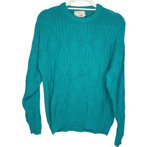 Vintage The Fox Collection Green Knit Sweater Medium